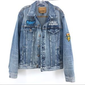 Chicago Lollapalooza Denim Jacket L American Eagle